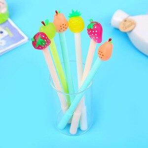Image 3 - Jonvon Satone 40 Pcs 도매 어린이 쓰기 펜 과일 펜 귀여운 아이 물 기반 펜 Kawaii 편지지 학교 용품에 대 한
