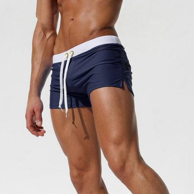 CKAHSBI Men Short Surf Swim Trunks Mens Swimming Shorts Nylon Beach Leisure Sport Wear Swimsuit Briefs Man Quick Dry Swimwear