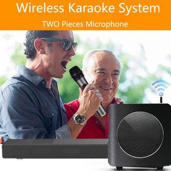 A9K+WS9 Karaoke Home Theatre System KTV Wireless Soundbar Bluetooth Subwoofer Loudspeakers 3D Surround Wall Stereo DTS TV Optica