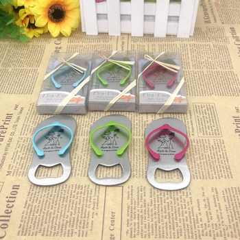 (100pcs/Lot)FREE SHIPPING+Printing Logo Flip Flop Bottle Opener Customized Wedding Favors Unique Party Giveaways For Guest - DISCOUNT ITEM  0% OFF All Category
