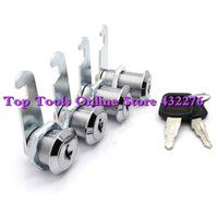 10pcs/lot 30mm Door Cabinet Shop Mailbox Drawer Cupboard Security Cam Chest Lock Camlock 2 Keys