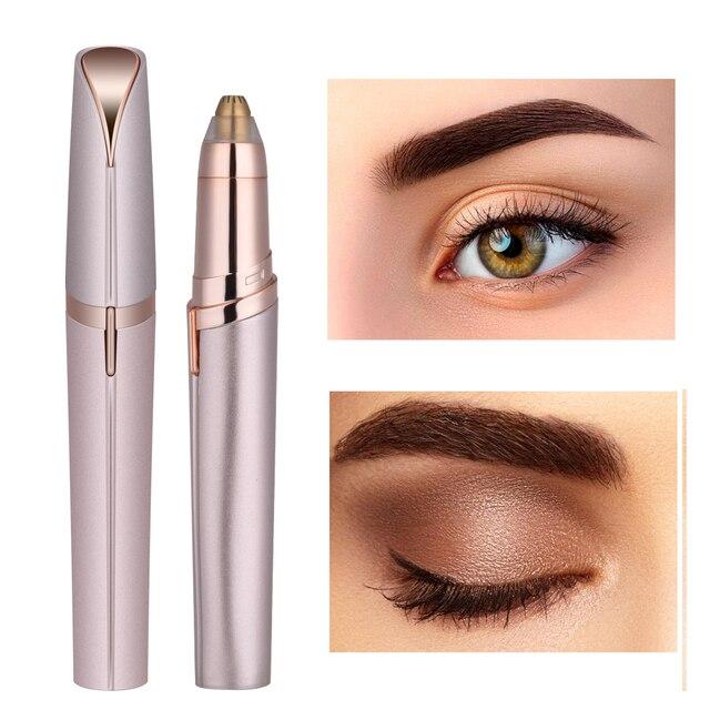 Electric Face Eyebrow Hair Remover Epilator Mini Eyebrow Shaver Razor Instant Painless Portable Epilator with eyebrow pencil 4