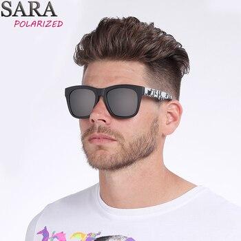 ca726891711 SARA deporte gafas de sol polarizadas hombre verano gafas de sol mujer marca  diseñador de revestimiento espejo lente Polaroid Shades mujer UV400 CE