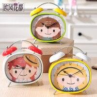 The Alarm Clock Lovely Bedside Alarm Clock Electronic Luminous Students Cartoon Children S Bedroom Clock Clock