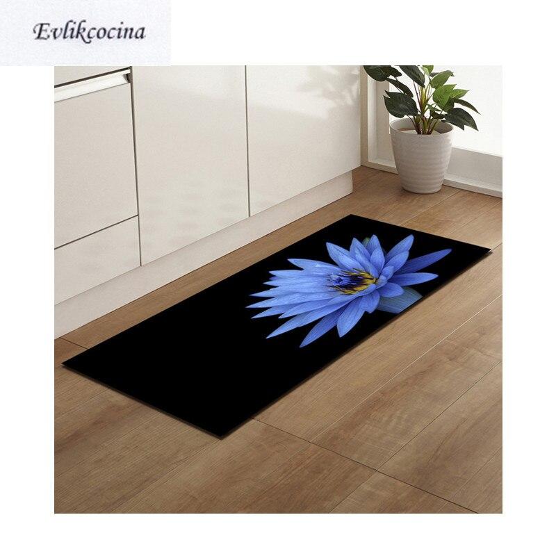 Frete grátis azul lotus banyo paspas anti deslizamento tapete de banho porta chão tapete para toliet não deslizamento alfombra bano
