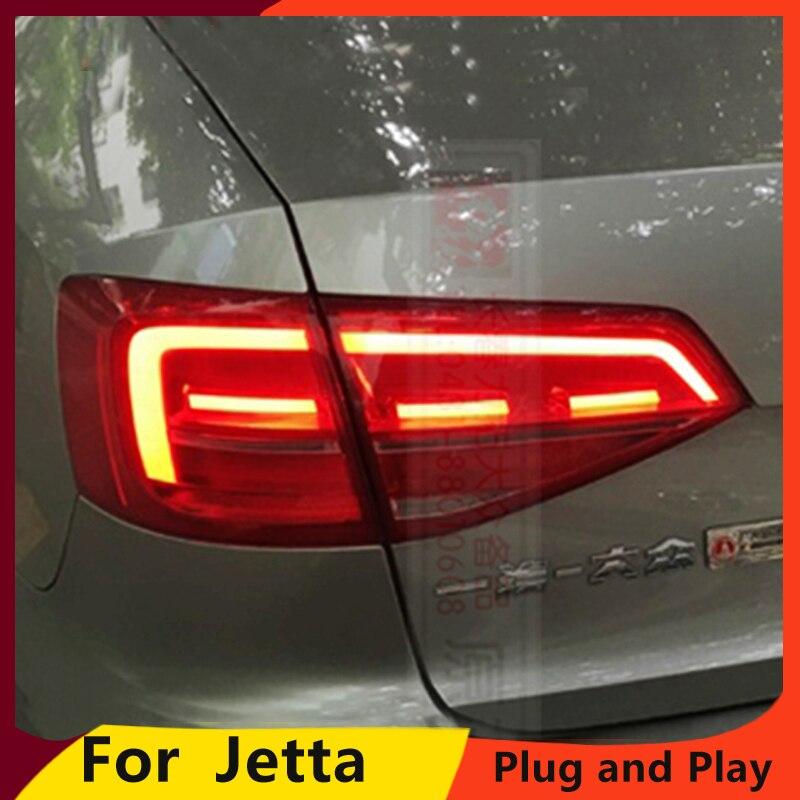 KOWELL Car Styling for VW Jetta Taillight Jetta MK7 2015 2018 LED Tail Light Rear Lamp