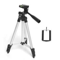 Statyw WT 3110A lampka przenośna statyw kamery i głowica kulowa + torba klips do telefonu do aparatu Canon Nikon Sony DSLR kamera DV|Statywy|Elektronika użytkowa -