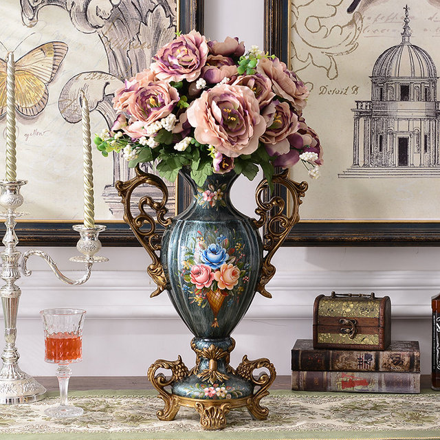 Living Room Decoration Vase Style French Luxury American Retro