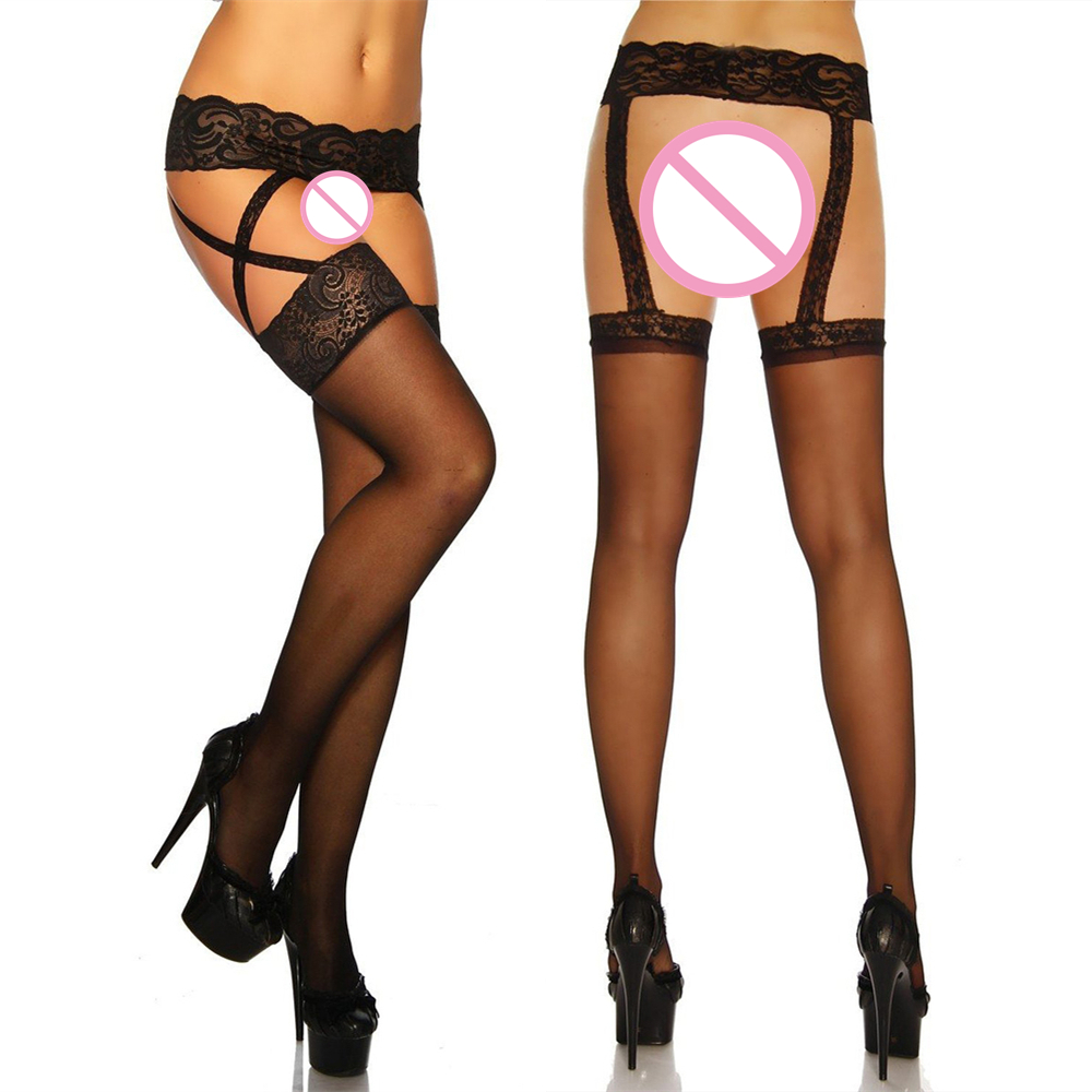 Nylon stockings garter belts