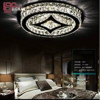 Новый раунд светодиодный потолочный светильник современные хрустальный потолок огни Cystal свет светодиодный luminare для спальни читальный зал