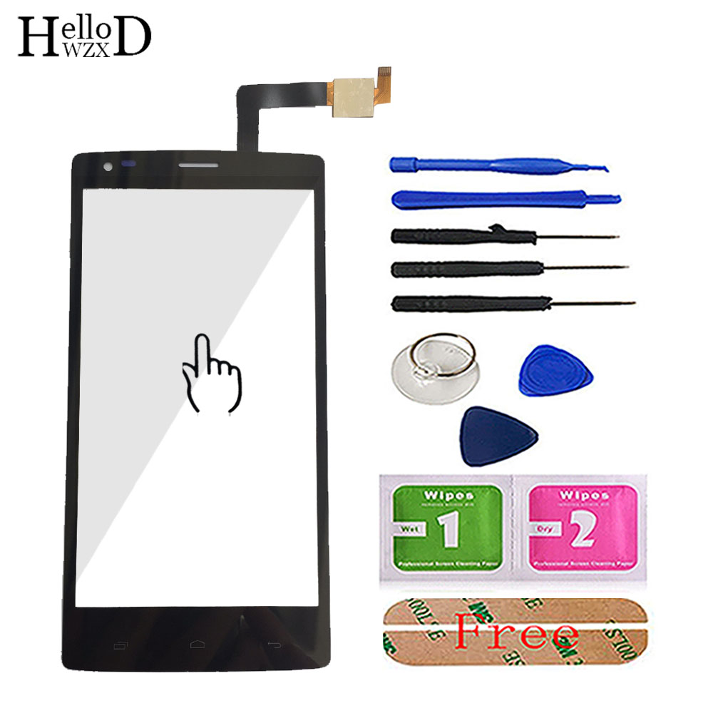 Touchscreen Front Glass Panel For Fly IQ4505 IQ 4505 Quad Era Life 7 Smartphone Spare Digitizer Touch Screen Sensor Adhesive