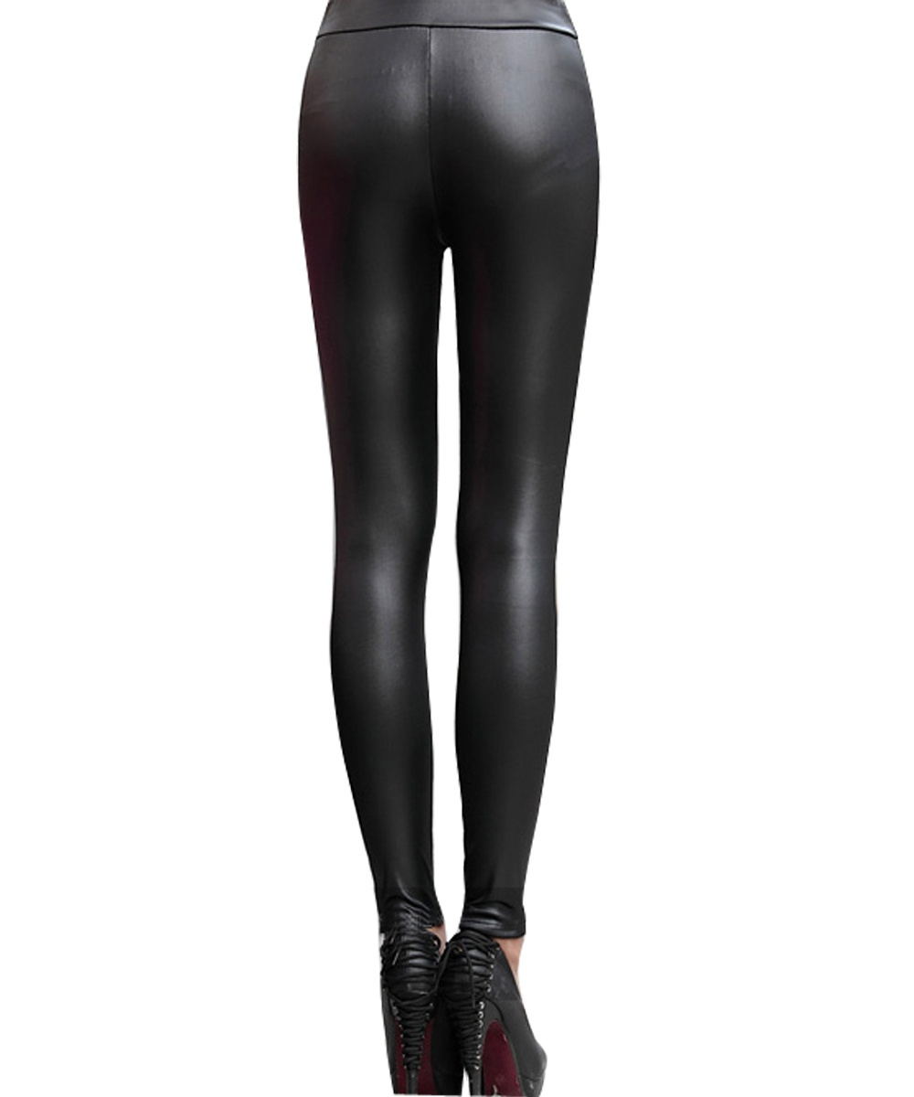 Women Sexy Fashion Synthetic Leather Stretch Skinny Fitness Tights Casual Pants