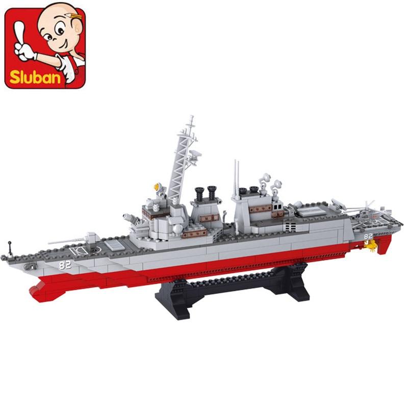 615 pièces armée marine navire de guerre blocs de construction ensembles destructeur avion transporteur Compatible LegoINGs militaires éducatifs jouets pour enfants