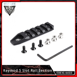 Image 1 - VMASZ Airsoft Quick Release 5 Slot KeyMod Rail Section for URX 4.0 Scope Mount Base Picatinny Weaver Rail System