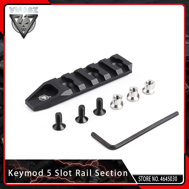 VMASZ Airsoft Quick Release 5 Slot KeyMod Rail Section for URX 4.0 Scope Mount Base Picatinny Weaver Rail System