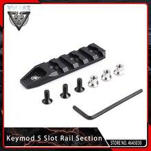 Vyou Airsoft быстросъемный 5 слотовый рельсовый раздел KeyMod для URX 4,0 база для крепления прицела Picatinny Weaver Rail System