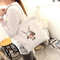 2016 Korean Style Fashion Canvas Ladies Handbag Girls Shoulder Bag Women Shopping Bags For Student