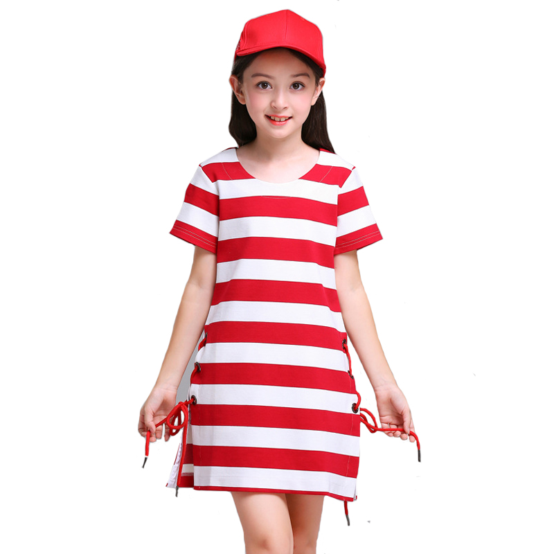 Fashion Children Sets Big Girls Striped Dress Striped Knitting Short 2pcs Suit for Kids Clothing High Quality 6y-12y