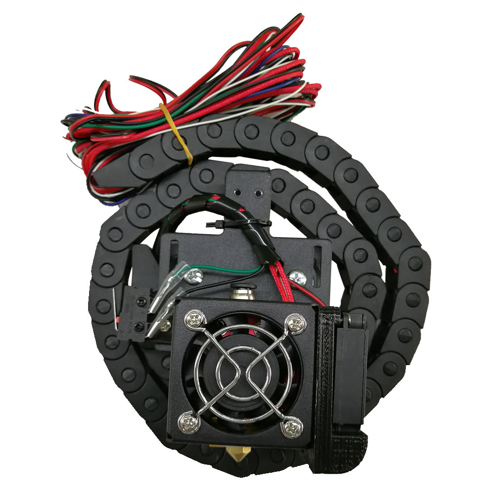 Tronxy X5S 3D imprimante complète extrudeuse avec thermistance de remorquage 100 k ventilateur de refroidissement tube de chauffage longueur de remorquage 700mm pour kit de bricolage