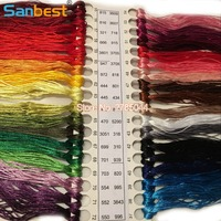 Sanbest High Quality 36 Colors Mercerized Bright Shiny Effect Cross Stitch Thread Embroidery Threads Waving DIY