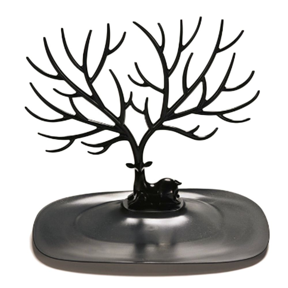 2017 New Display Organizer Holder Show Rack Jewelry Necklace Ring Earring Tree Stand Drop Shipping In Hooks Rails From Home Garden On Aliexpress