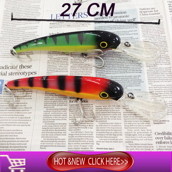 NEW Hard Plastic Fishing Lures Crank Bait Salt Water Fishing Lure Minnow Fishing Lures Spinnerbait Japan Hooks 27cm new hard plastic fishing lures crank