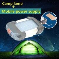 2017 new alto brilho USB Fonte de Alimentação Portátil Recarregável LEVOU lanterna de acampamento barraca luz Luz do Carregador para o Telefone Móvel