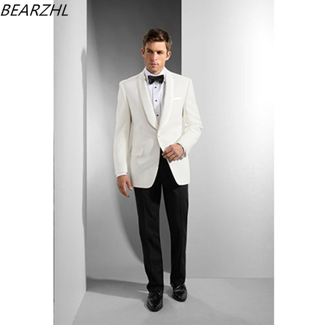 tuxedos prom wedding suit white mens wear custom made suit dress ...
