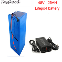 No taxes 2000cycles lifepo4 48v 1000w battery pack with lifepo4 48v 25ah battery and 48v 25ah lifepo4 battery pack+5A charger