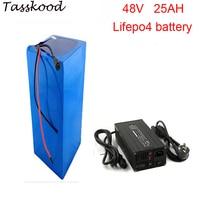 Sem impostos 2000 ciclos lifepo4 48v 1000w bateria com lifepo4 48v 25ah bateria e 48v 25ah lifepo4 bateria + 5a carregador Bateria de bicicleta elétrica     -