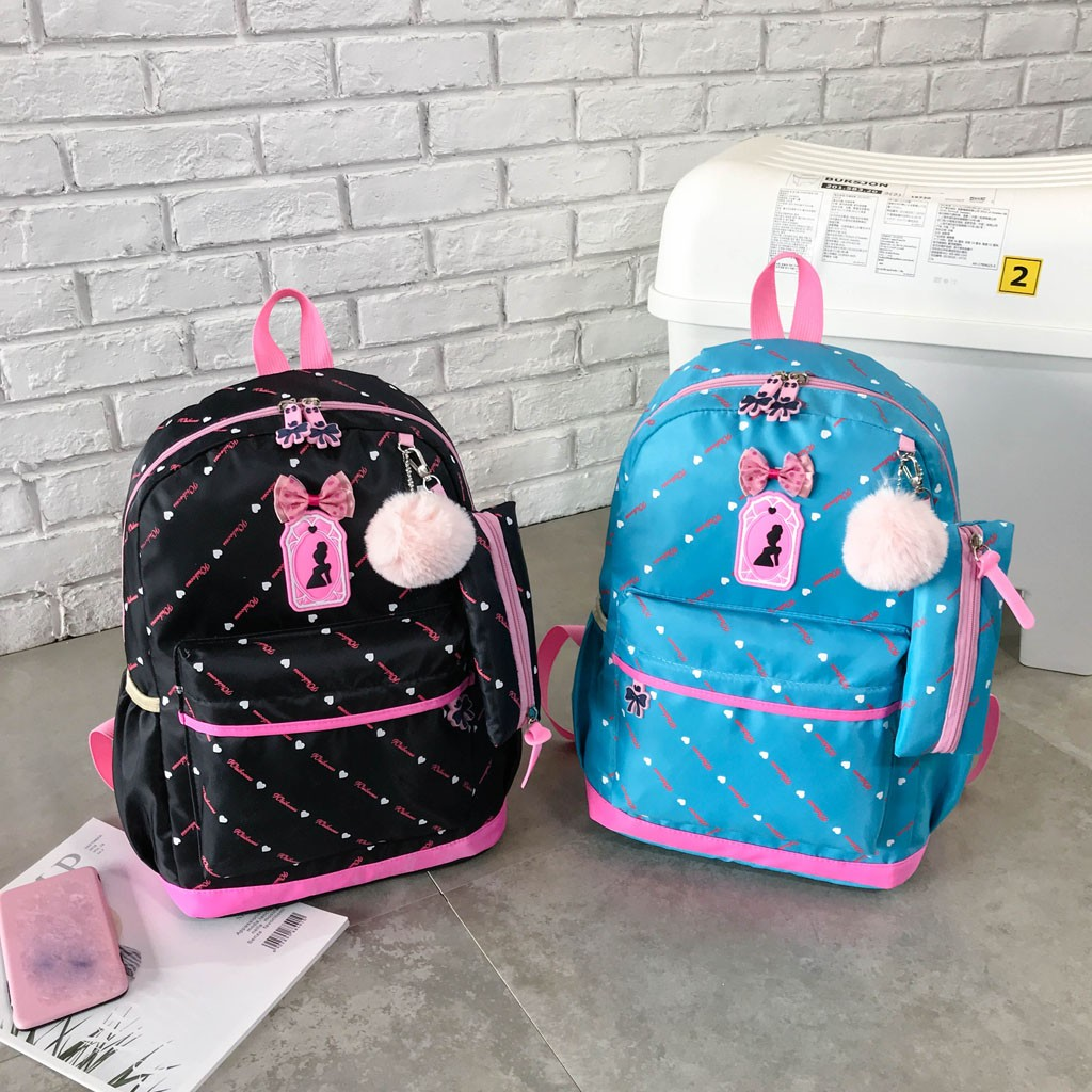 Women Bow Canvas Three-piece School Bag 49
