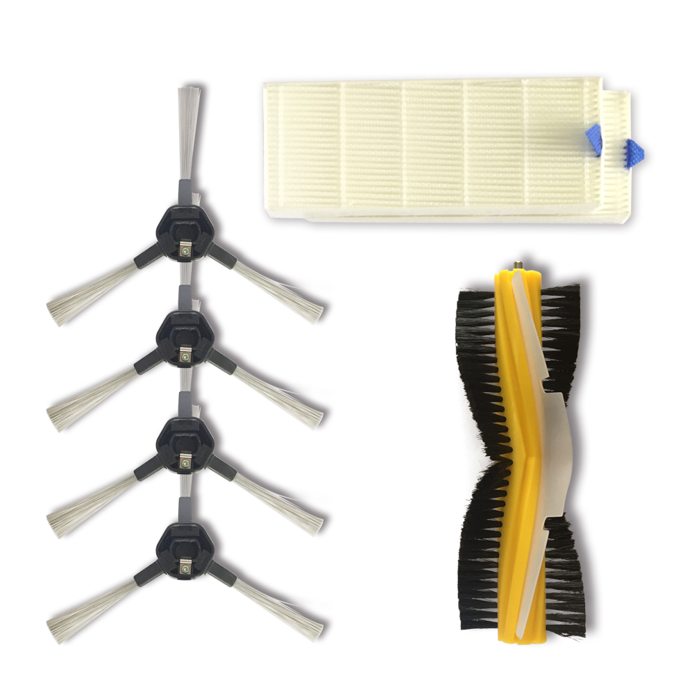 Side Brush Hepa Filter And Rotating Brush Promotion Dibea D960 Vacuum Cleaner Parts