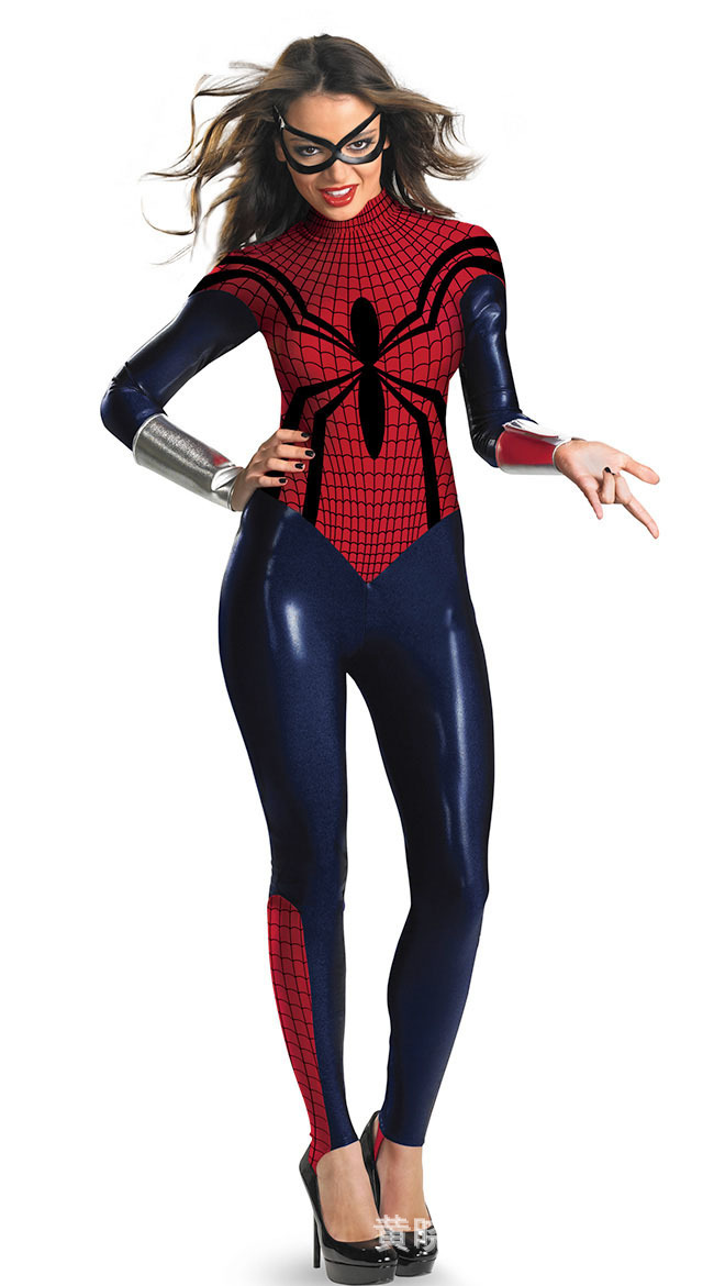 Sexy Adult Women Halloween Cosplay Costume Superhero Spiderman Bodysuit Costumes Sexy PVC Jumpsuit Latex Catsuit Zentai Suit-in Sexy Costumes from Novelty ...  sc 1 st  AliExpress.com & Sexy Adult Women Halloween Cosplay Costume Superhero Spiderman ...
