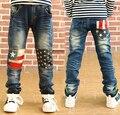 2017 Новые детские случайные джинсы костюм осенью и весной детские мальчиков джинсы дети брюки
