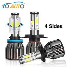 4 辺led H4 H7 H8 H11 HB3 9005 HB4 9006 led電球canバスエラー送料 60 ワット 10000LM 6000 自動車ヘッドライトランプ 12v