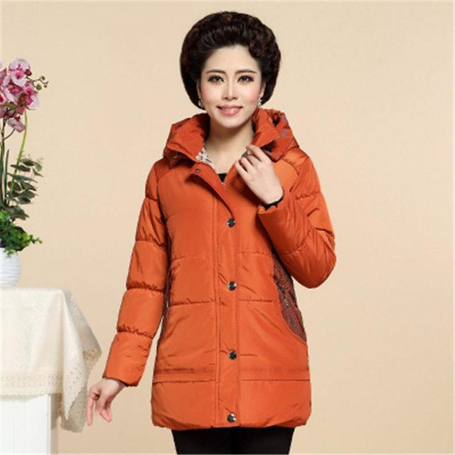 Wadded Female 2016 Winter Women Parkas Coat Middle-Long Warm Hooded Cotton Padded Outerwear Jacket Overcoat WY386