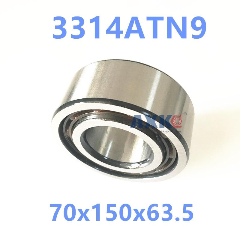 1PCS 3314ATN9 3314 3314A 5314 70x150x63.5 3314-B-TVH 3056314 3314B Double Row Angular Contact Ball Bearings  AXK  Bearing