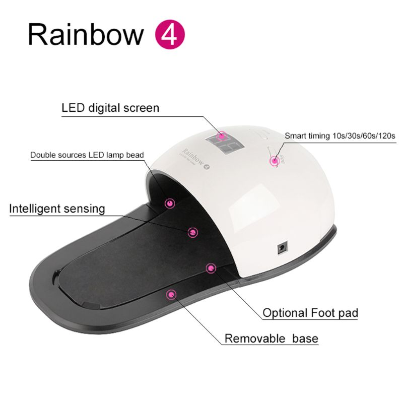 UV LED Nail Lamp Beauty Foot Nail Art Gel Polish Dryer Phototherapy Machine 48W(China)