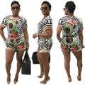 Africano Dashiki Vestidos Mulheres Robe Africaine Bazin Riche 2016 Verão Estilo quente Na Europa E No Novo Sexy Apertado Impresso terno