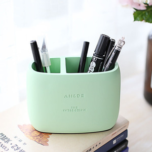 Image 2 - 1 Pcs High Quality Pen holder Office Organizer Cosmetic Pencil Pen Holders Resin Stationery Container Office Supplies