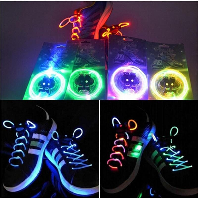Washable Light Up Shoe Laces Glow Stick LED Shoelaces Shoestring Wedding Party