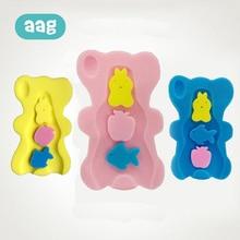 AAG Newborn Cartoon Bathtub Non-slip Baby Shower Sponge Cushion Bed Rack Bath Mat Seat Holder 25