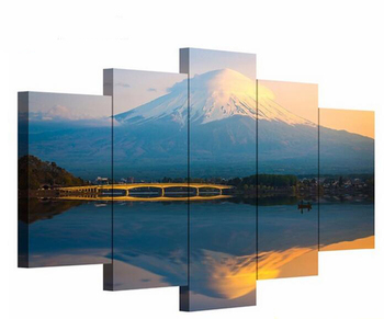 Modern living room decorative painting Mt Fuji landscape restaurant hanging painting bedroom sofa background wall pictures 1