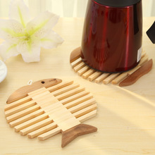 Fun Kitchen delicate fish type bamboo mat placemat coasters insulation against hot pot mat wholesale