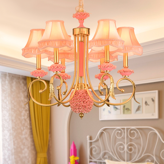 Modern European Style All Copper Ceramic Chandelier Nordic Villa Children S Bedroom Chandeliers