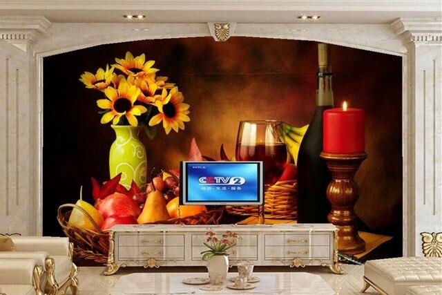 Candele Camera Da Letto : Personalizzato still life candele di frutta vaso di vino cibo