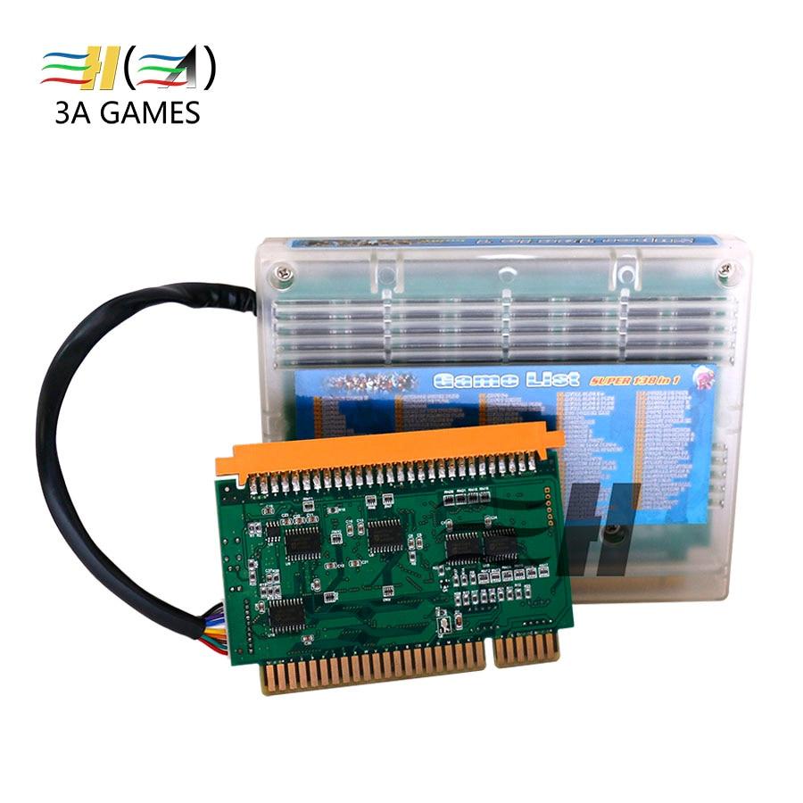 все цены на Neo Geo Cartridge Super 138 in 1 Mutli Game PCB Jamma Board multi cart game games cassette mvs neo geo Standard Jamma