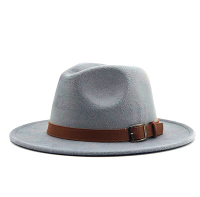 70ce1f715f3 Dropwow New Wool Fedora Hat Hawkins Felt Cap Wide Brim Ladies Trilby ...