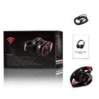 Fone de ouvido estéreo HIFI para celular xiaomi iphone e tablet Samsung, com bluetooth para música, FM e com suporte de cartão SD e microfone 6