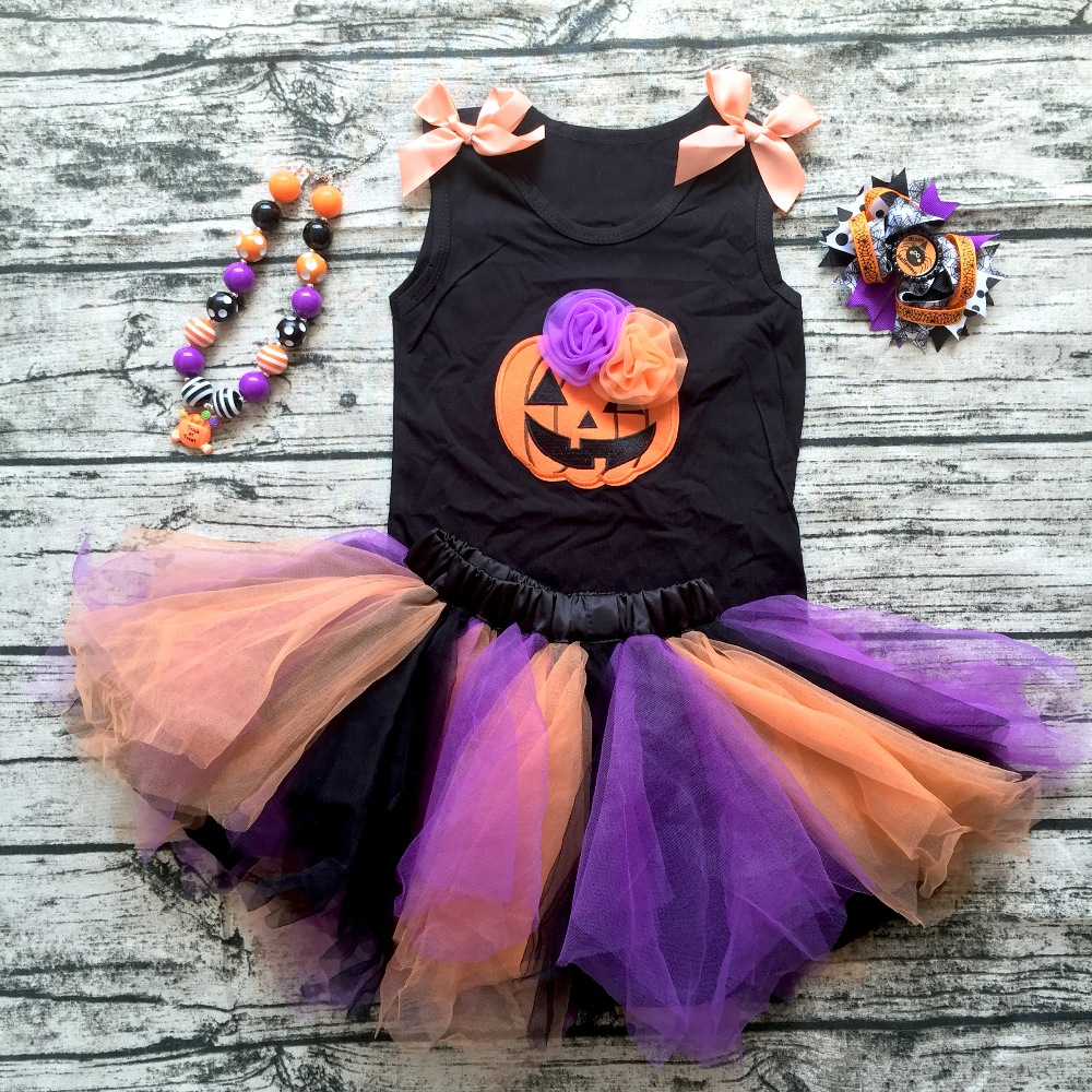 2018 new arrival baby girls outfits halloween baby kids boutique baby girl halloween skirt sets with matching necklace and bow 2016 new arrival baby girls outfits halloween baby kids boutique baby girl halloween sets with necklace and headband leg warmers